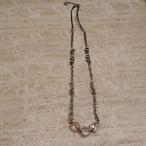 Chico's chain and beaded necklace